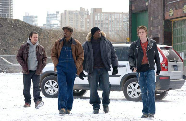 Mark Wahlberg, Andre 3000, Tyrese Gibson and Garrett Hedlund in Four Brothers