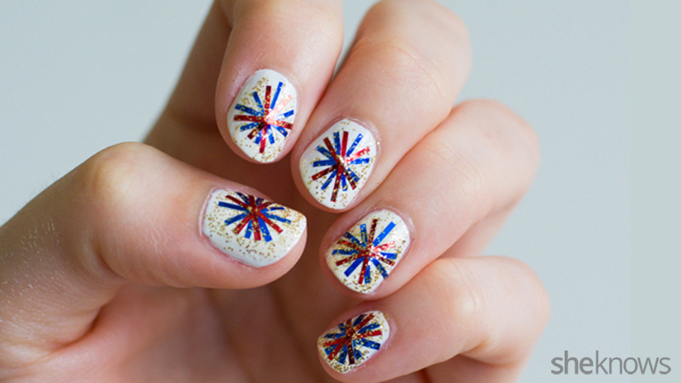 - Fourth Of July Fireworks Nail Design – SheKnows