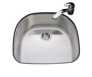Single Basin Stainless Steel Undermount Kitchen Sink