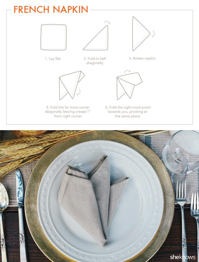 french napkin