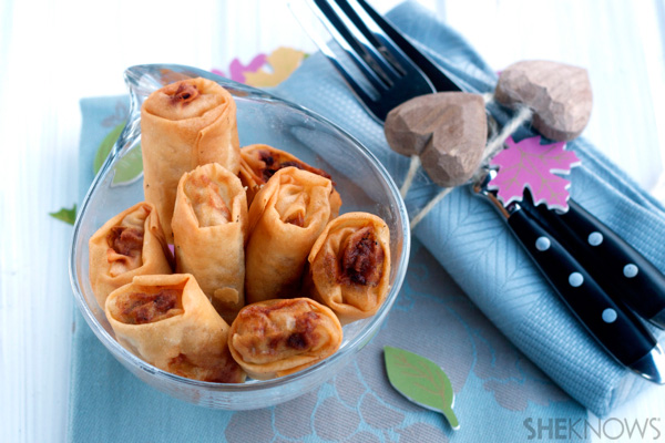 Fried meat spring rolls