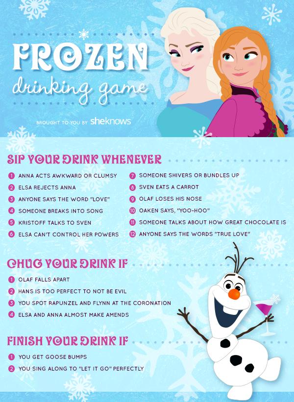 Frozen Drinking Game