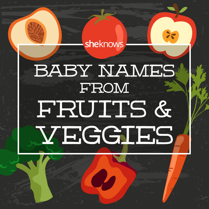 25 Names from fruits and vegetables