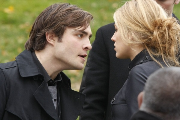 Chuck Bass at his father's funeral