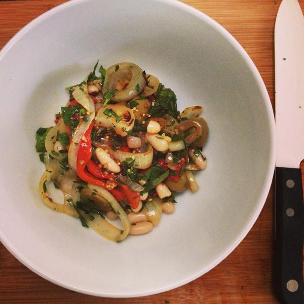 Cannellini bean, tomato & olive salad