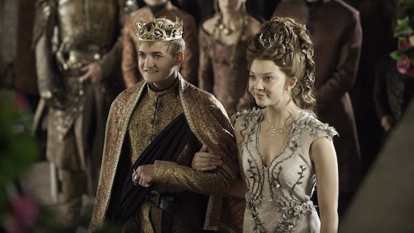 Joffrey and Margaery walk down the isle on Game of Thrones