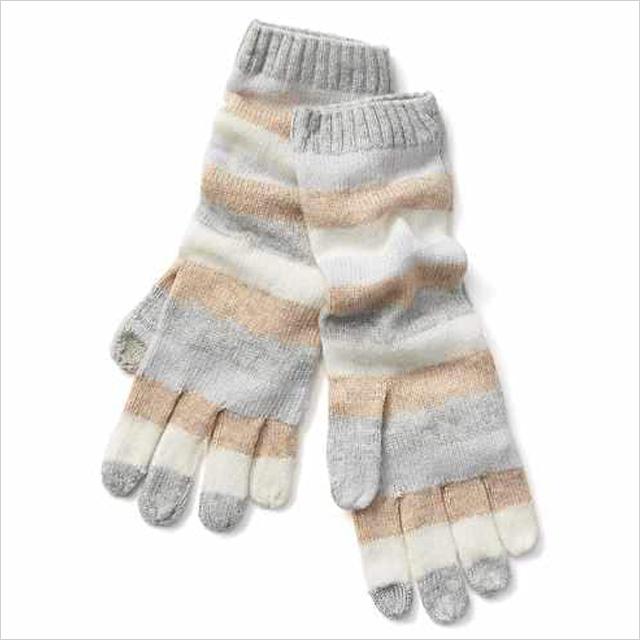 Gap Stripe Merino Wool Blend Mittens