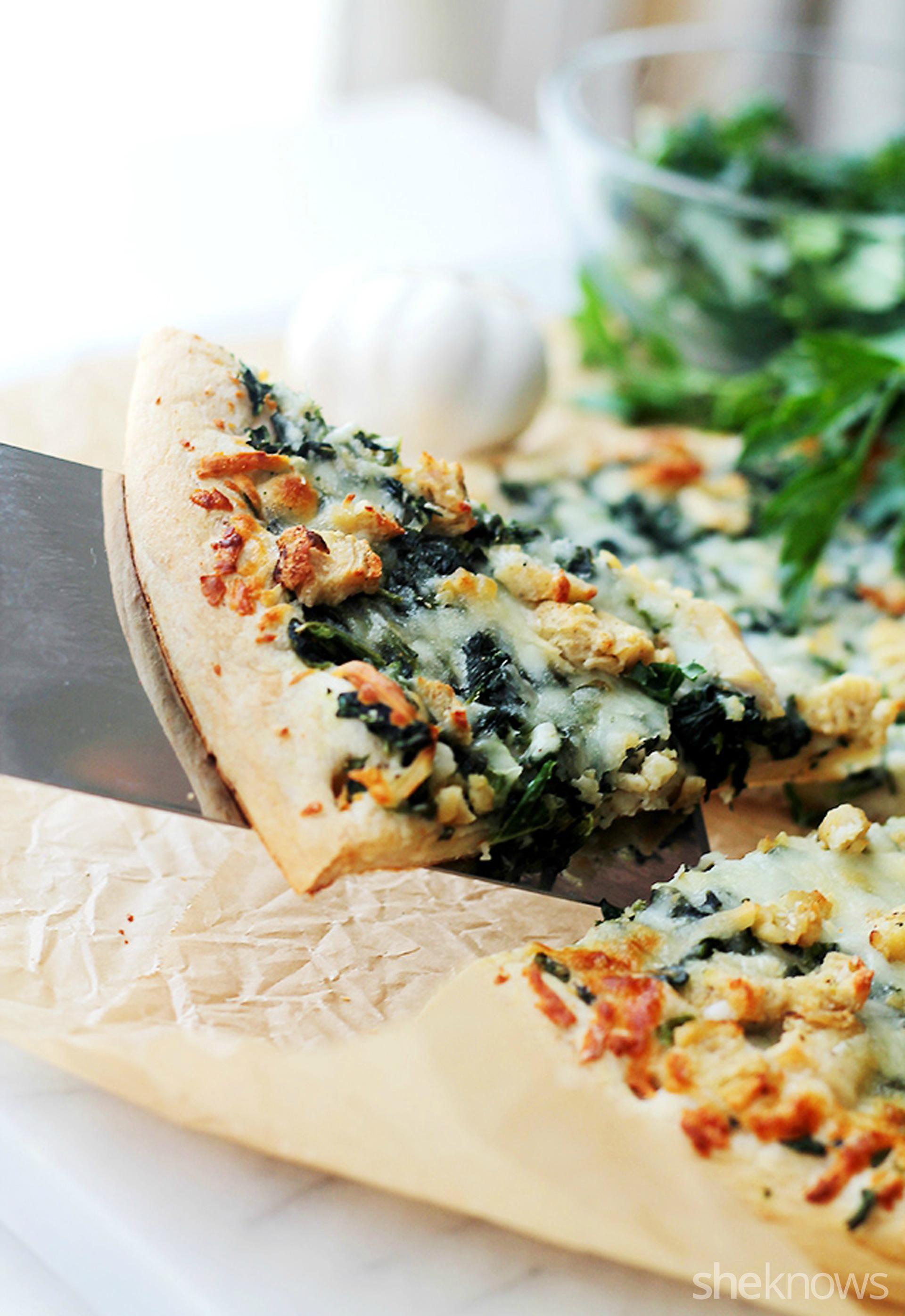 Garlic Kale Pizza