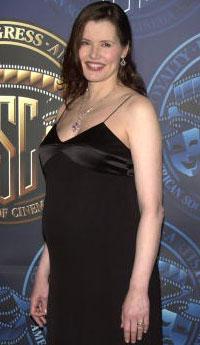 Geena Davis Pregnant WireImage/Getty Images
