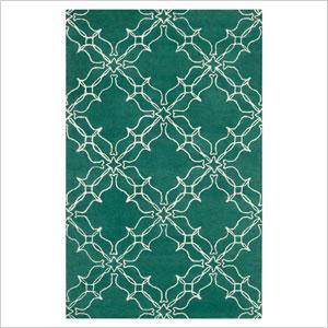 Geometric Trellis Wool Rug