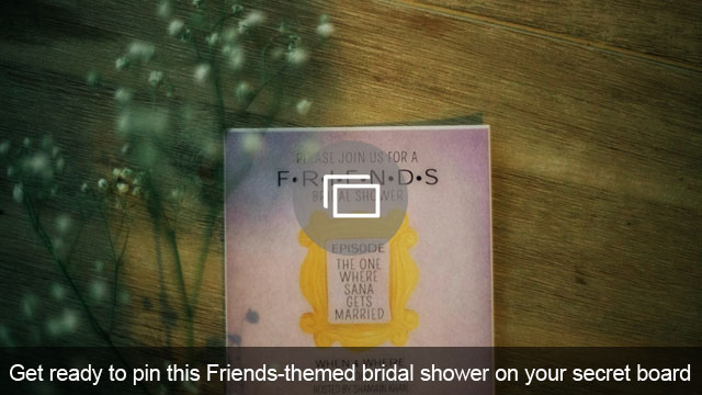 Get ready to pin this Friends-themed bridal shower on your secret board