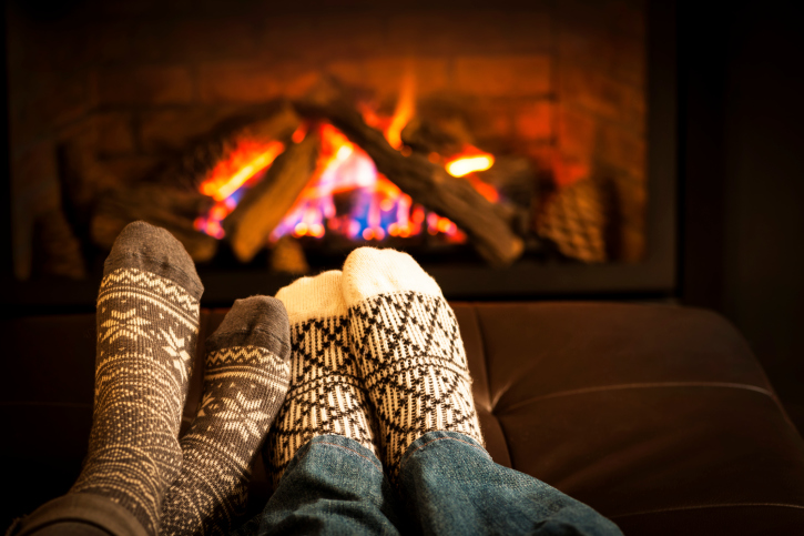 cosy feet fireplace
