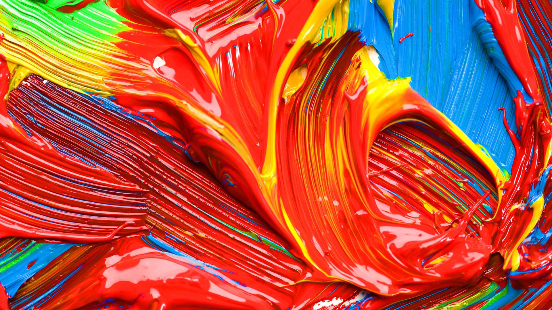 smeared paint