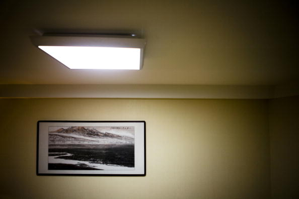 overhead fluorescent light