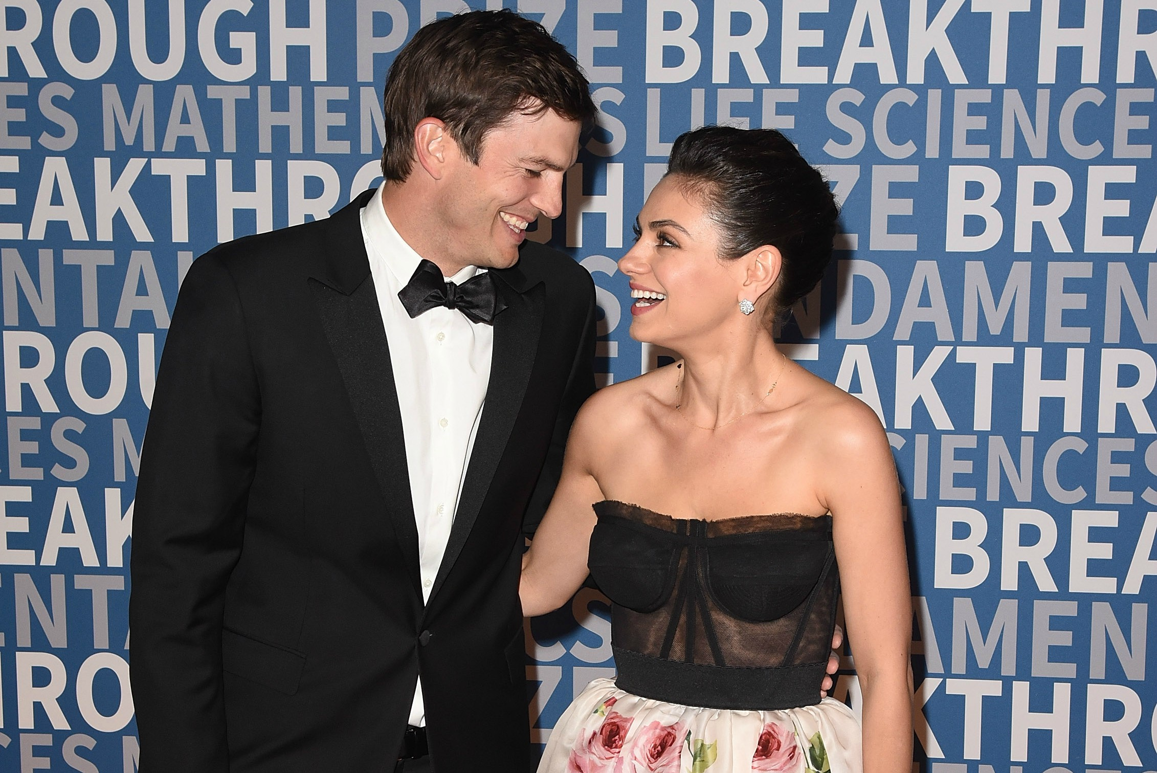 Mila Kunis and Ashton Kutcher at the 2018 Breakthrough Prize Ceremony