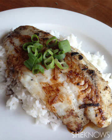 Ginger and coconut bbq fish