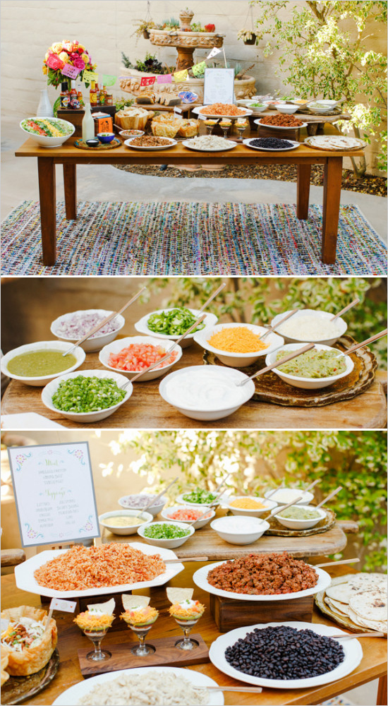 Make your own taco bar