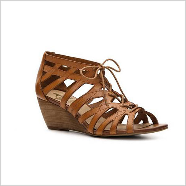 015044cc60d2 A gladiator sandal is nice. A gladiator wedge is perfect. This pair of  gladiators from Crown Vintage give you a teensy boost alongside a lot of  ankle ...