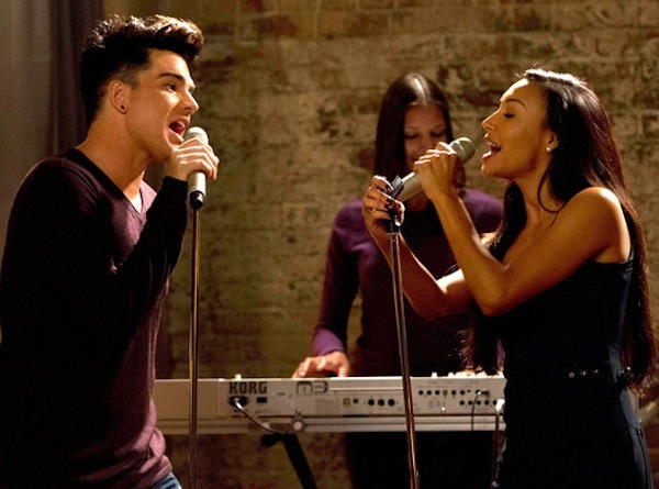 Adam Lambert performs on Glee