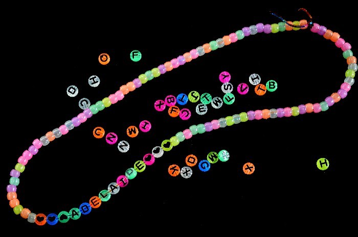 Glow in the dark necklace crafts