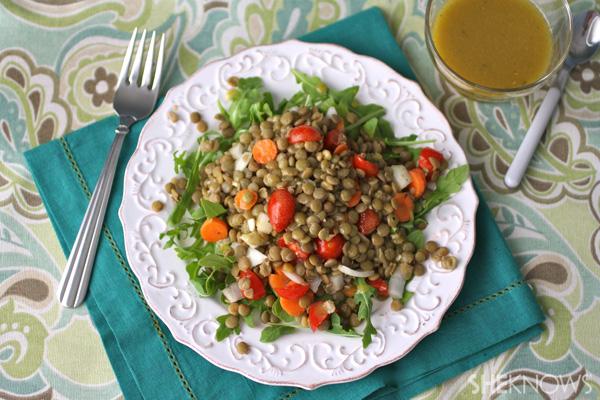 Gluten-free Friday: Lentil salad with mustard vinaigrette