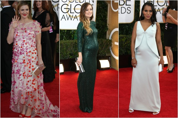 Mums to be on the red carpet at the Golden Globe awards