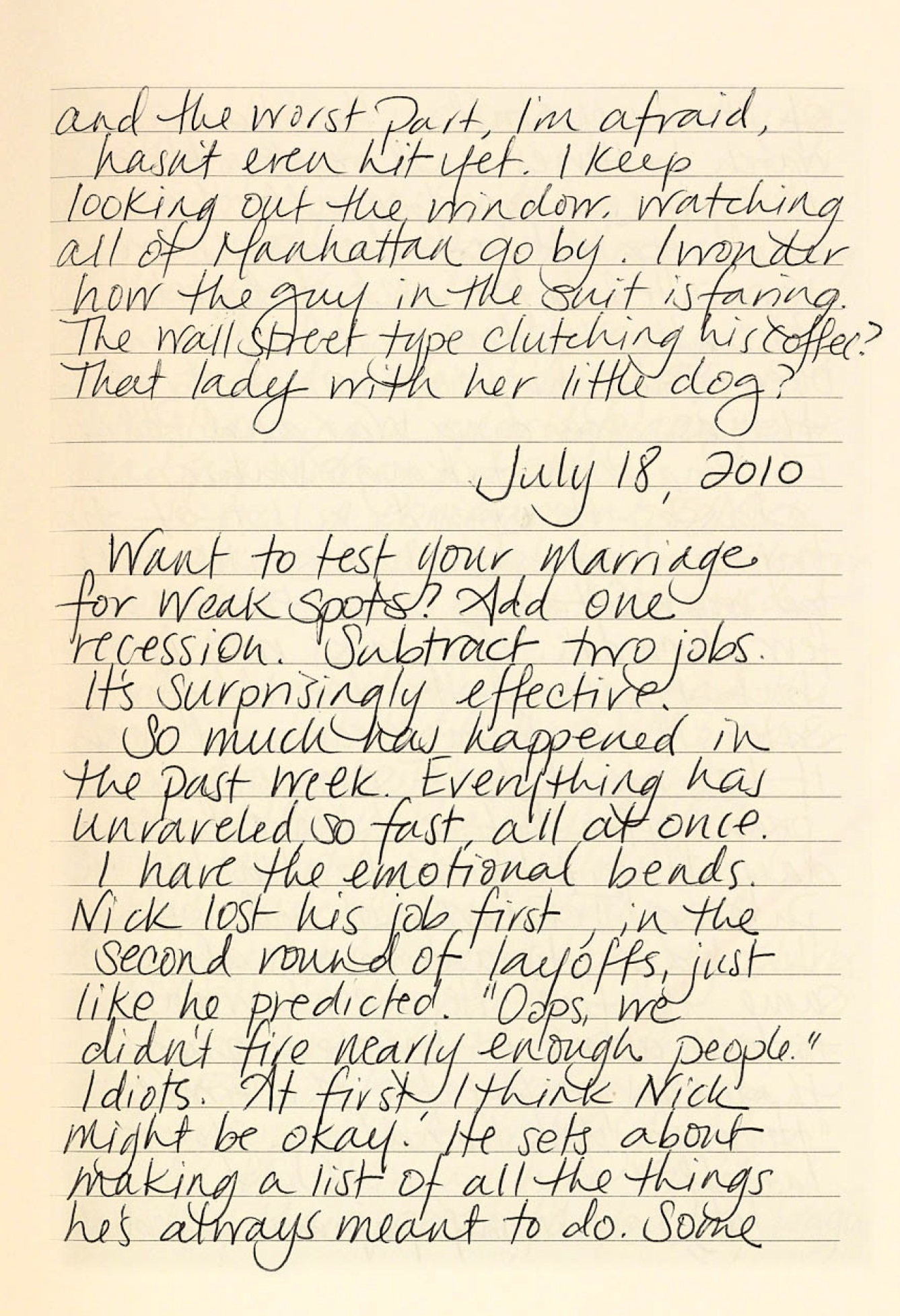 Gone Girl Diary Page 4