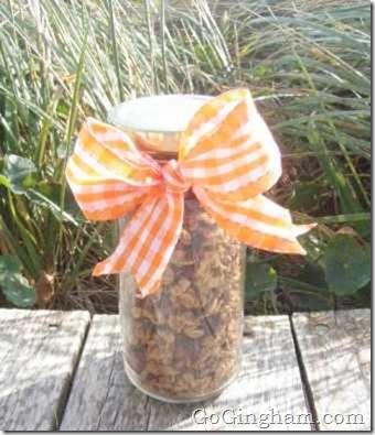 Homemade granola... in a pretty jar