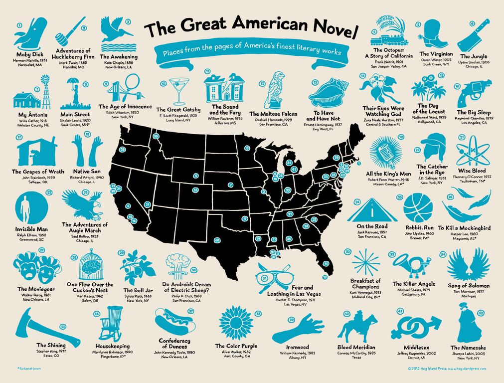 Great American Novel Map