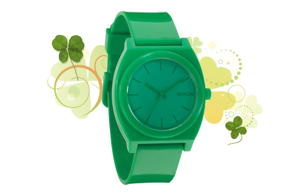 green nixon watch