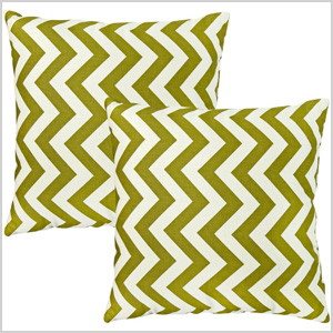 Greendale Zig Zag pillows