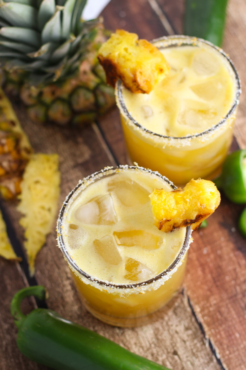Grilled pineapple jalapeno cocktail