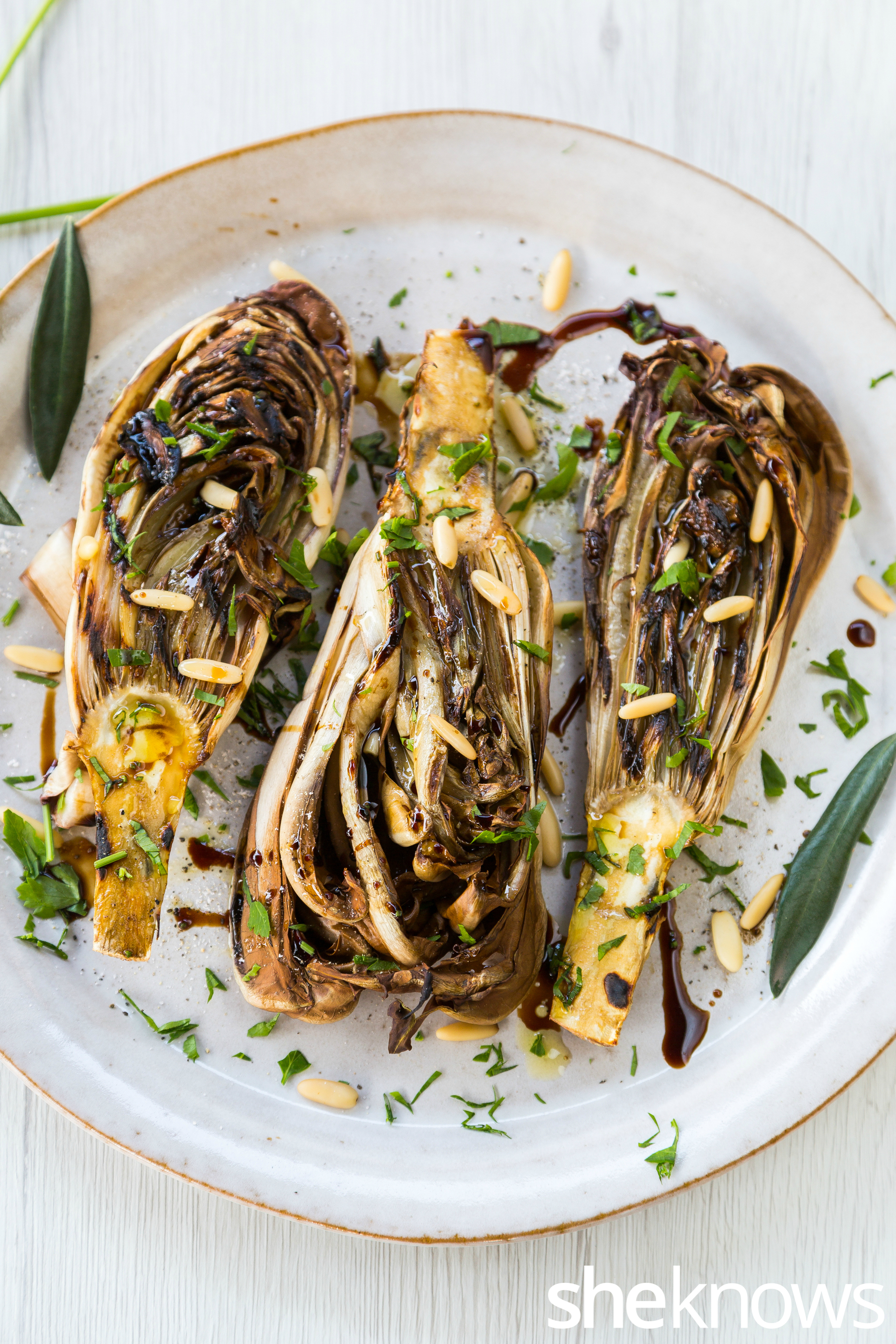 Grilled-radicchio-with-balsamic-vinegar-and-pine-nuts