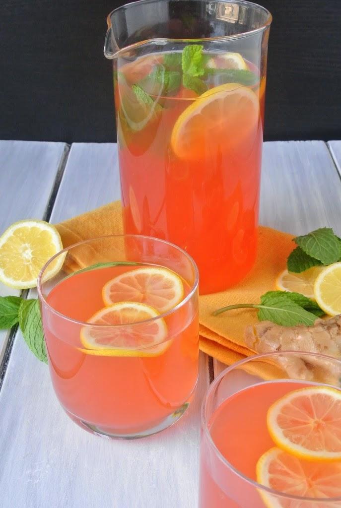 ginger-mint-vodka-lemonade