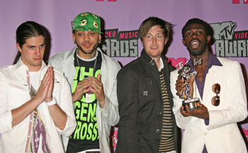 McCoy (second from left) at the 2007 MTV Video Music Awards