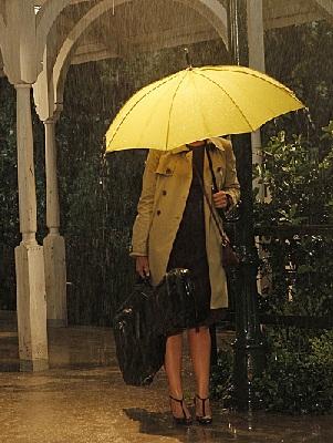 The girl under the umbrella