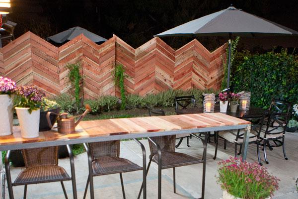 Britany Simon's chevron fence on Design Star.