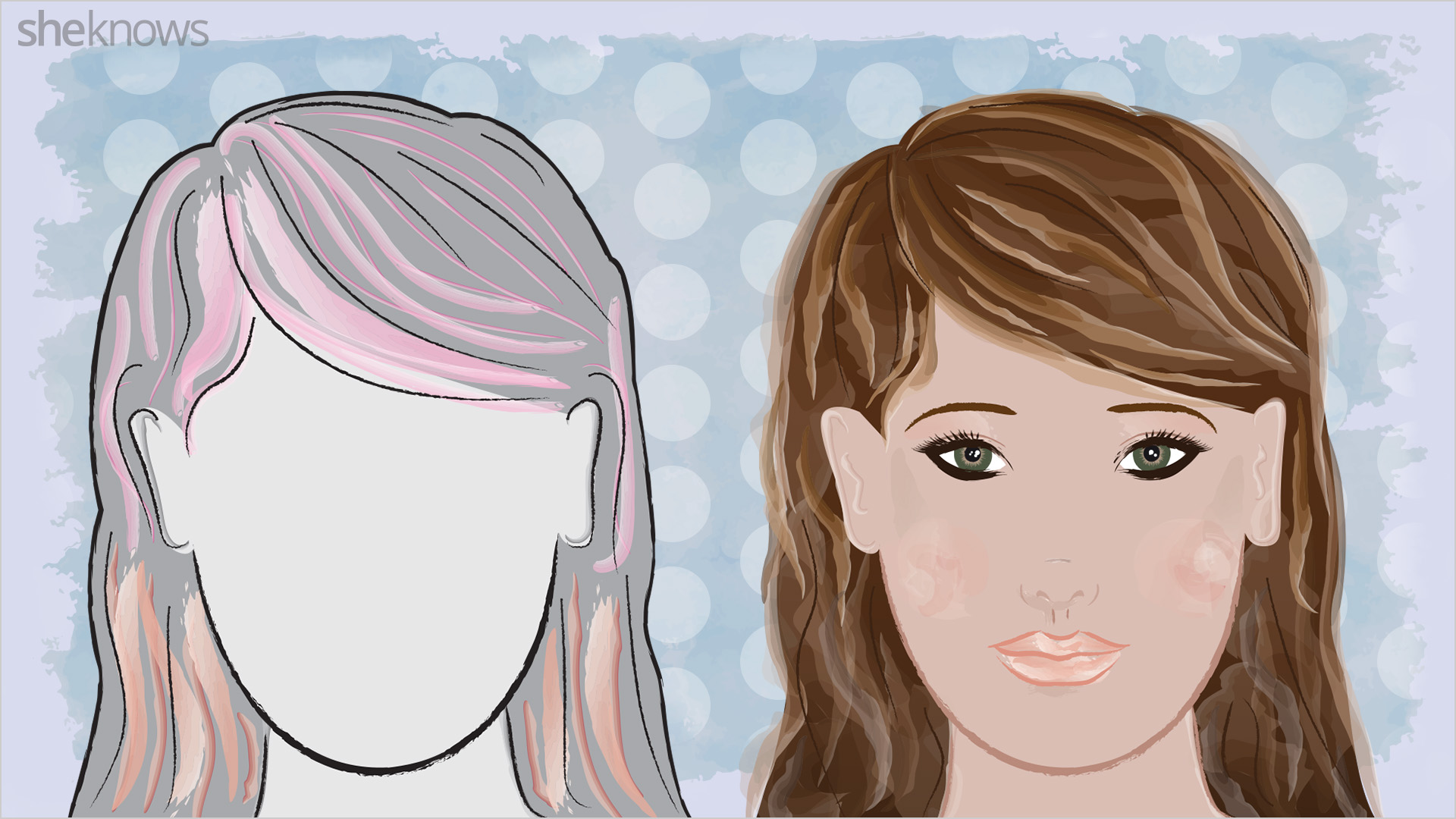 Hair highlights for round face shapes