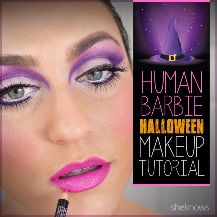 Human Barbie makeup