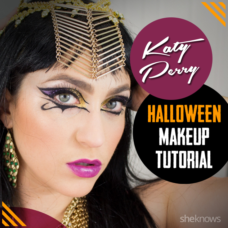Katy Perry Halloween makeup