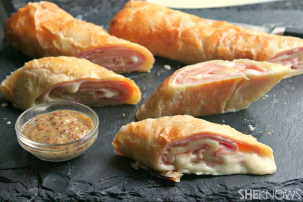 Ham and cheese puff pastry stromboli recipe