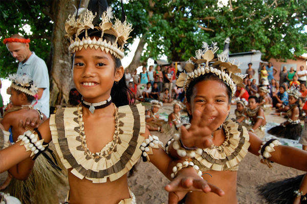 Happy children from Fiji
