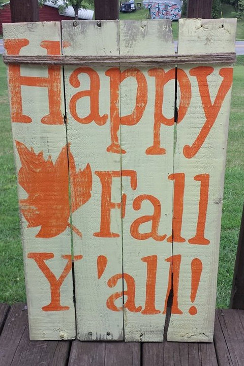 Happy fall y'all pallet decor sign
