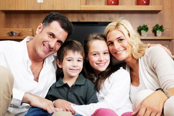 Happy blended family