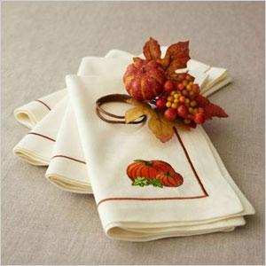 Harvest pumpkin napkin ring