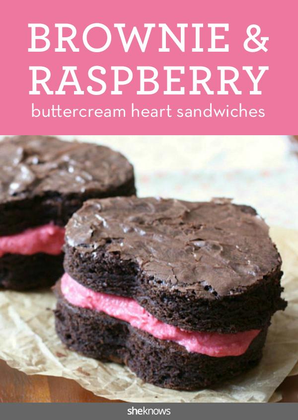 heart brownie sandwich