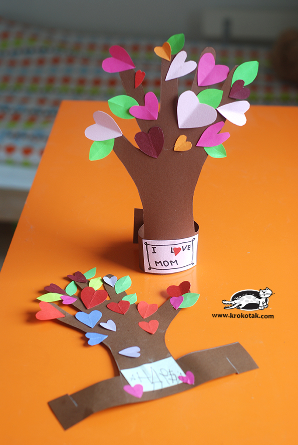 Valentine's crafts for kids | Heart Hand Tree