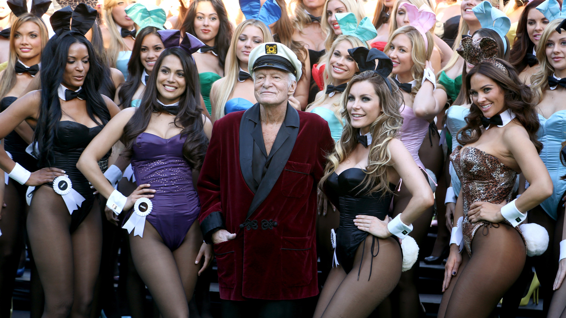 Hef and a bunny playmate