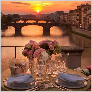 Her table setting