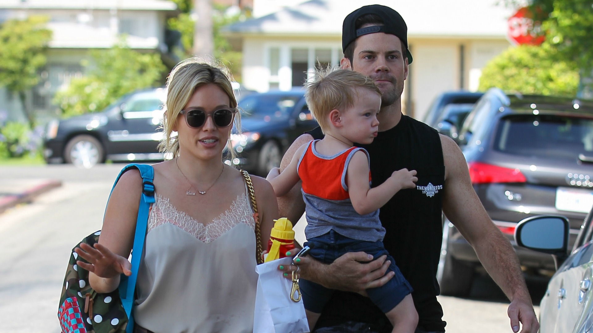 Hilary Duff and Mike Comrie go out with son Luca